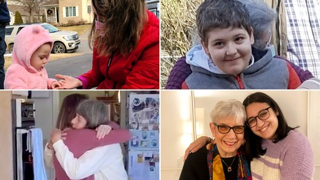 Grandparents are getting to hug their grandkids for the first time after getting vaccinated