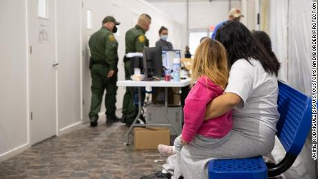 The temporary processing facilities in Donna, Texas, February 25, 2021, constructed to safely process family units and unaccompanied alien children (UACs) encountered and in the custody of the U.S. Border Patrol.