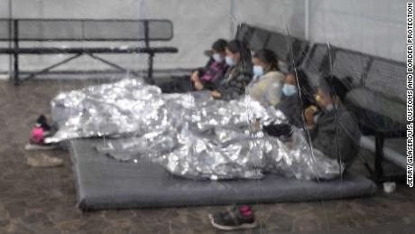 The temporary processing facilities in Donna, Texas, February 25, 2021, constructed to process family units and unaccompanied alien children (UACs) encountered and in the custody of the U.S. Border Patrol.