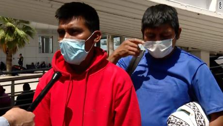 Carlos Cocoy, left, says he will try to cross the Rio Grande again. Returning to Guatemala, he says, isn't an option.