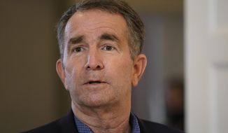 This photo shows Virginia Gov. Ralph Northam in Richmond, Va., on Monday, March 15, 2021. (AP Photo/Steve Helber) **FILE**